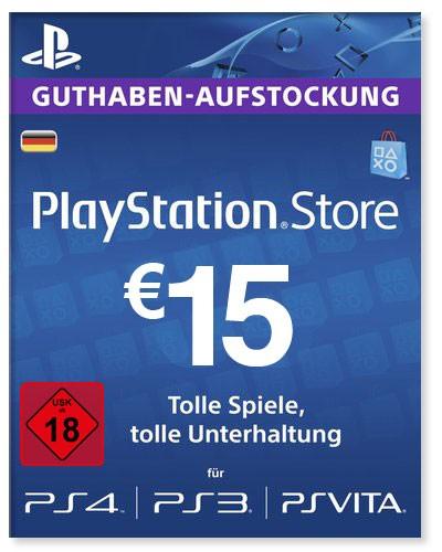 PlayStation Store Guthaben Deutschland 15 Euro