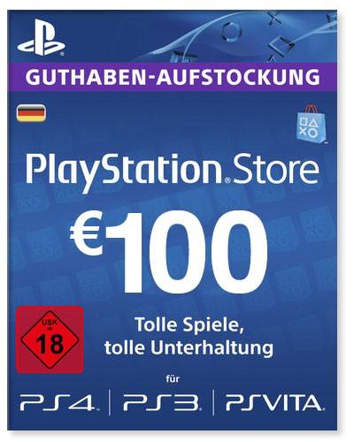 PlayStation Store Guthaben Deutschland 100 Euro