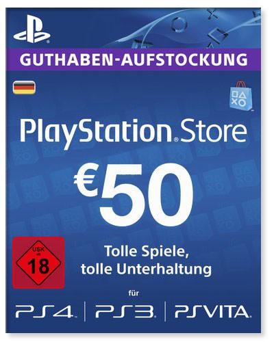PlayStation Store Guthaben Deutschland 50 Euro