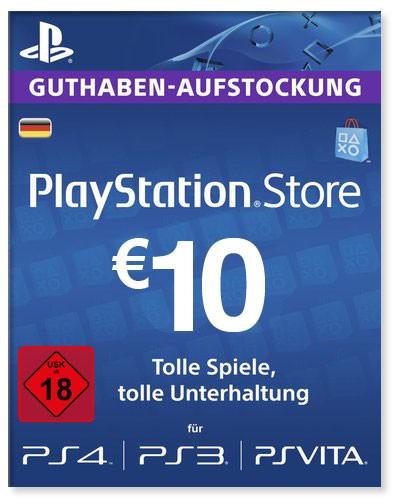 PlayStation Store Guthaben Deutschland 10 Euro