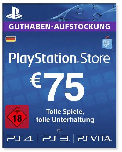 PlayStation Store Guthaben Deutschland 75 Euro