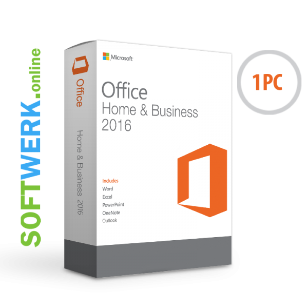 Microsoft Office Home & Business 2016 für PC