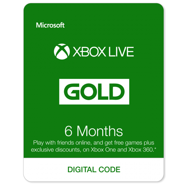 Xbox Live 6 Months EU